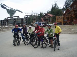 Amy Stevenson Marcoux on bike trip Rossland BC