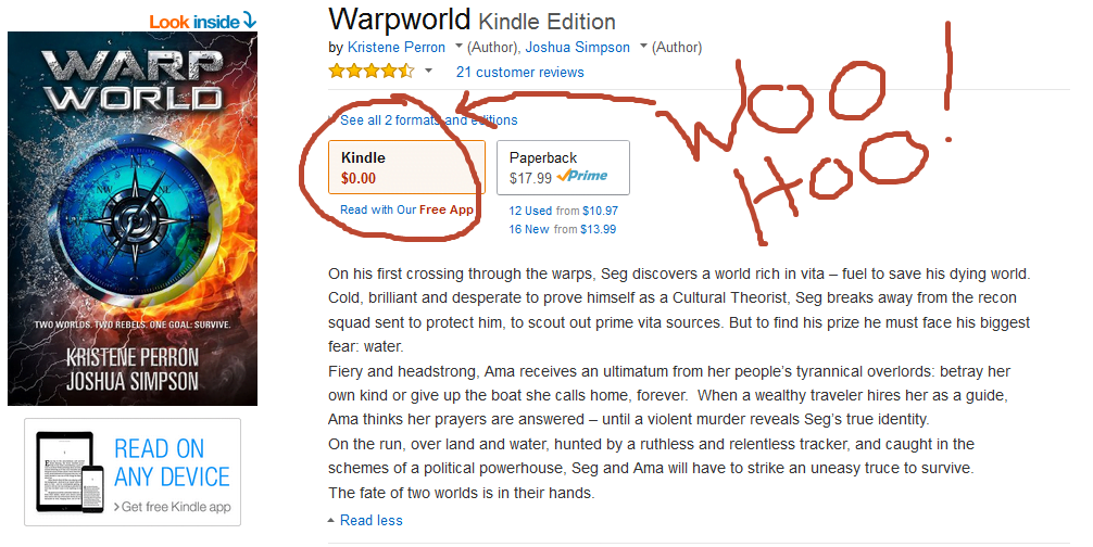 Warpworld free on Amazon Kindle