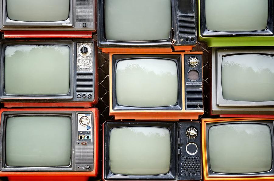 stack of old televisions Warpworld