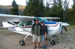 Bobbi and Dave Powers with airplane