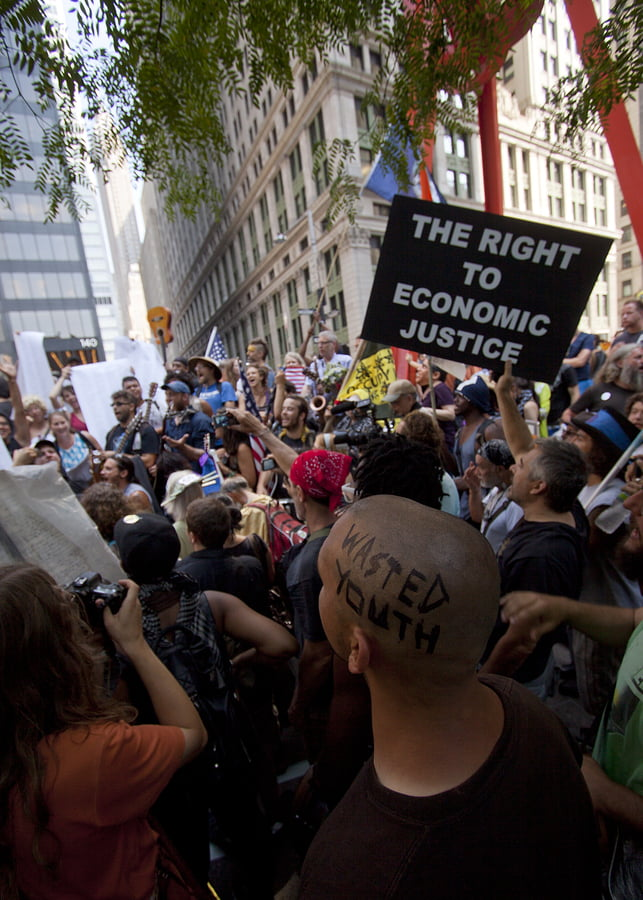 Occupy Wall Street in fiction